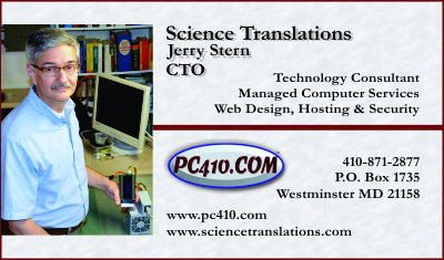 business card for Jerry Stern